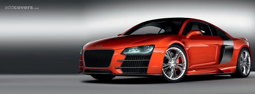 Red Audi R8 Facebook Covers
