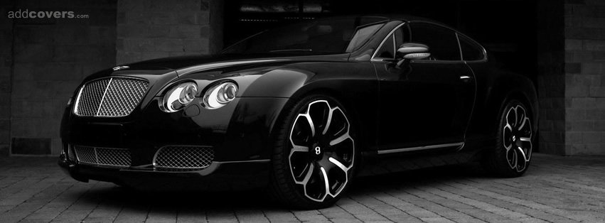 Black Bentley Continental {Cars Facebook Timeline Cover Picture, Cars Facebook Timeline image free, Cars Facebook Timeline Banner}