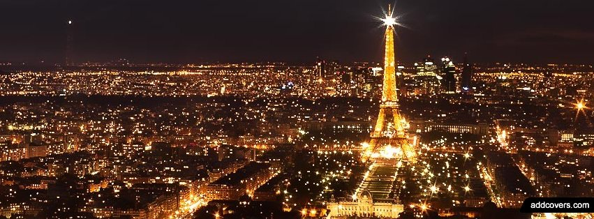 Eiffel Tower Paris Lights {Cities & Landmarks Facebook Timeline Cover Picture, Cities & Landmarks Facebook Timeline image free, Cities & Landmarks Facebook Timeline Banner}