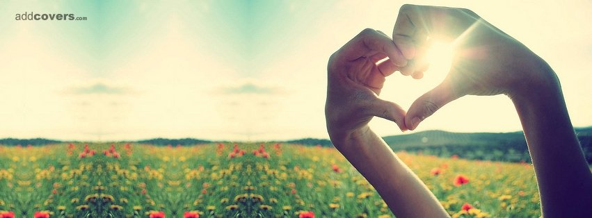 Hand heart {Cute Facebook Timeline Cover Picture, Cute Facebook Timeline image free, Cute Facebook Timeline Banner}