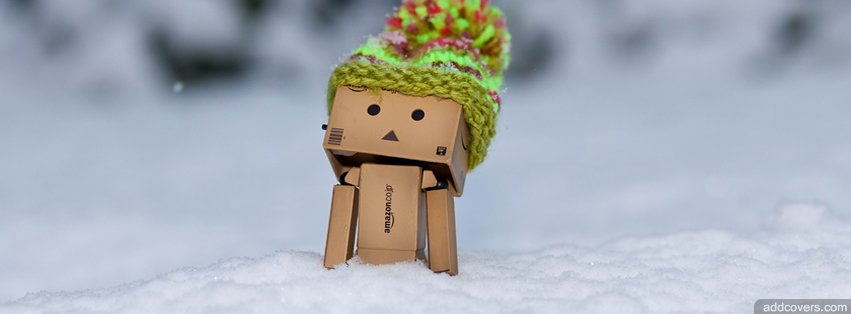 Danbo Discovering Snow {Cute Facebook Timeline Cover Picture, Cute Facebook Timeline image free, Cute Facebook Timeline Banner}