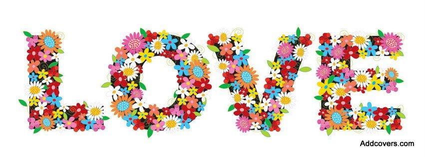 Floral Love {Love Facebook Timeline Cover Picture, Love Facebook Timeline image free, Love Facebook Timeline Banner}