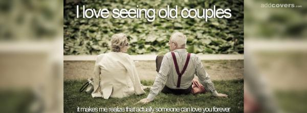 I love seeing old couples