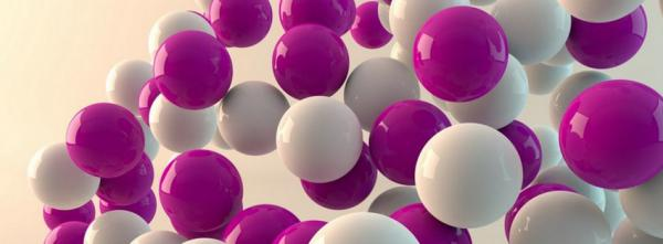 Pink and White 3D Balls