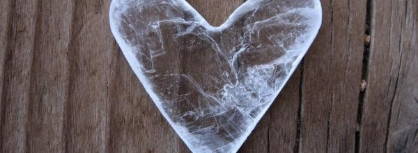 Heart-shaped piece of Ice