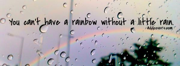 Rainbow without rain
