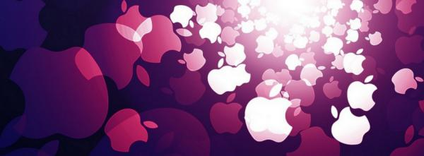 Purple Apple Abstract