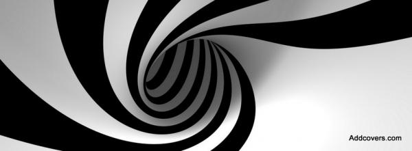3D Black and White Spiral