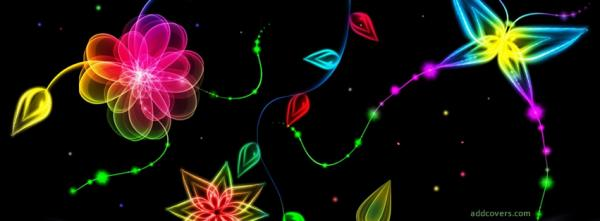 Neon Glowing Flowers