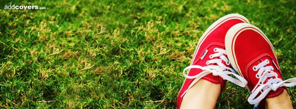 Red shoes in the Grass