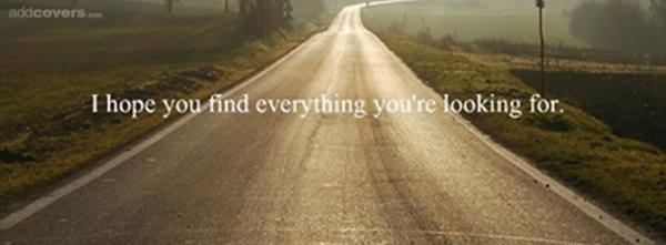 I hope you find everything