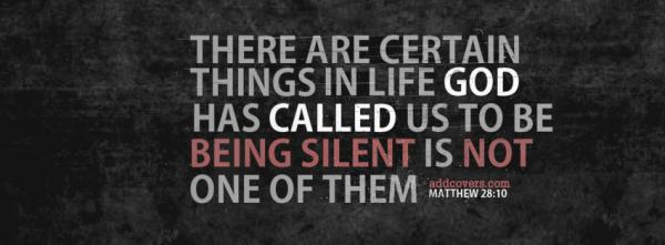 Do not be silent