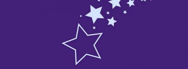 White Stars on Purple Background