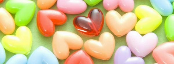 Colorful Heart Shaped Beads