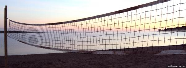 Beach Sunset Volleyball