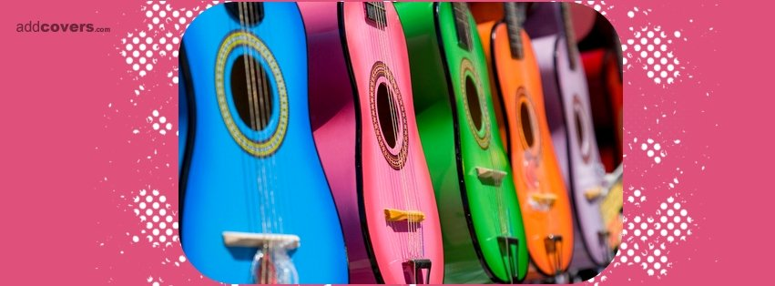 Colorful Guitars {Music Instruments Facebook Timeline Cover Picture, Music Instruments Facebook Timeline image free, Music Instruments Facebook Timeline Banner}