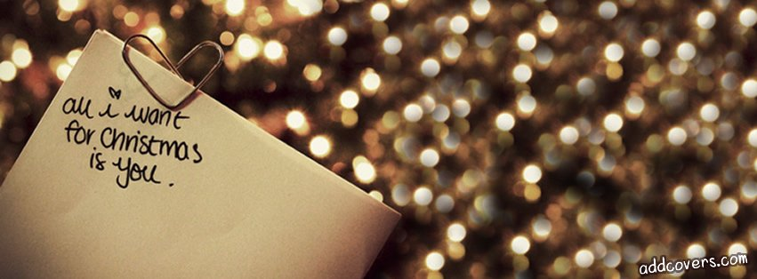 All I want for Christmas {Word Pictures Facebook Timeline Cover Picture, Word Pictures Facebook Timeline image free, Word Pictures Facebook Timeline Banner}
