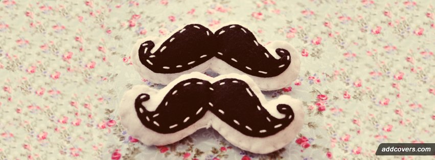 Mustache Pillow {Cute Facebook Timeline Cover Picture, Cute Facebook Timeline image free, Cute Facebook Timeline Banner}