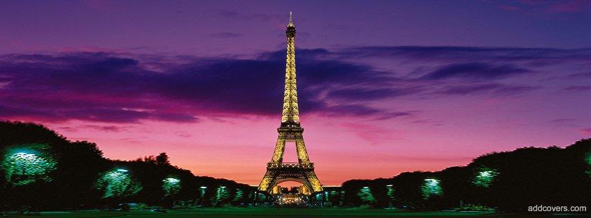 Eiffel Tower Paris sunset {Cities & Landmarks Facebook Timeline Cover Picture, Cities & Landmarks Facebook Timeline image free, Cities & Landmarks Facebook Timeline Banner}