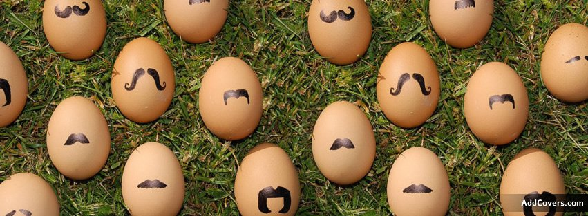 Mustache Easter Eggs Facebook Covers