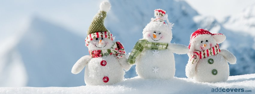 Cute Snowmen Facebook Covers