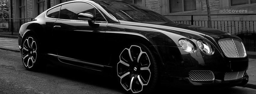 Black Bentley {Cars Facebook Timeline Cover Picture, Cars Facebook Timeline image free, Cars Facebook Timeline Banner}