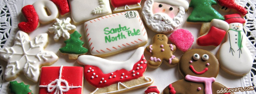 Christmas Cookies {Holidays Facebook Timeline Cover Picture, Holidays