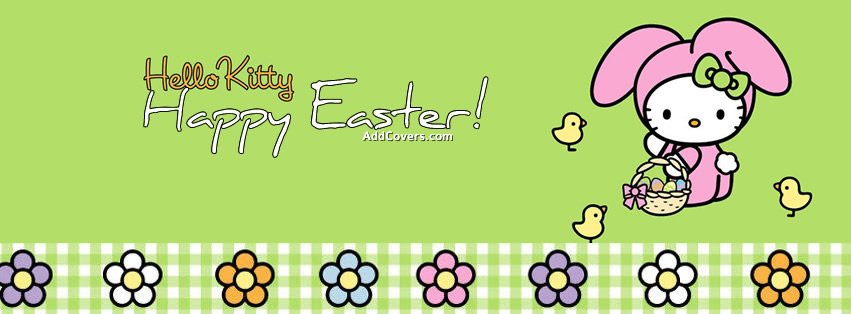 Hello Kitty Easter {Holidays Facebook Timeline Cover Picture, Holidays Facebook Timeline image free, Holidays Facebook Timeline Banner}