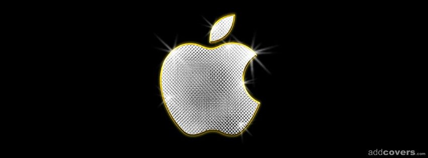 Apple Logo Bling {Logos & Brands Facebook Timeline Cover Picture, Logos & Brands Facebook Timeline image free, Logos & Brands Facebook Timeline Banner}