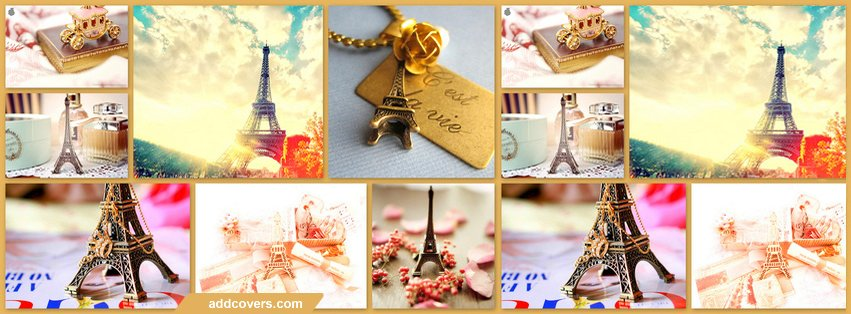 Paris Collage Facebook Covers