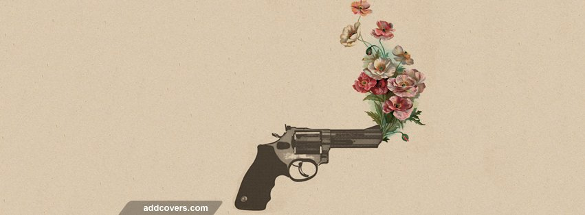 Gun Flowers Facebook Covers for Timeline.